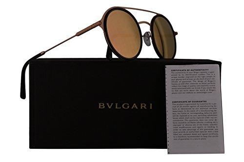 Bvlgari BV5042 Sunglasses Black Gold w/Grey Mirror Rose Gold Lens 50mm 20134Z BV 5042 - Sun Bulgari Glasses