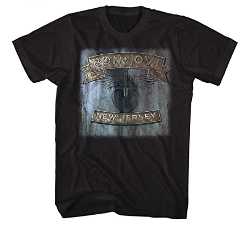 Bon Jovi Official New Jersey' T-Shirt for Men, S to XXL