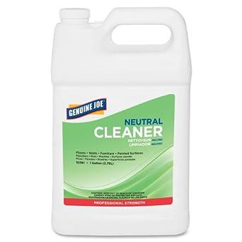 Genuine Joe GJO10361 Concentrated Citrus Scent Neutral Liquid Solution Cleaner, 1 gallon Bottle, White