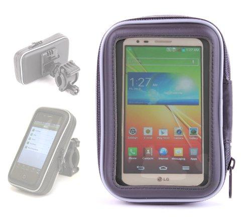DURAGADGET Water Resistant Bicycle Phone Hard Case With Bike Handlebar Mount For LG Optimus G2, LG Optimus 4G LTE, LG Optimus L9, LG Optimus G & LG P880 Optimus 4X - Usb P880