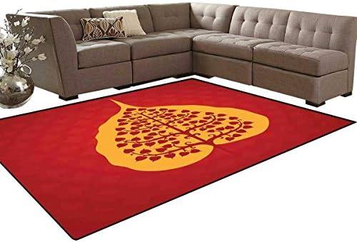 Amazon.com: Leaf Bath Mats for Floors Artistic Design of ...
