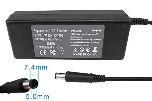 (Gomarty 19V 4.74A 90W AC Power Adapter Charger for HP Pavilion DV4 DV5 DV6 DV7,Compaq Presario CQ40 CQ45 CQ50 GC60 CQ61 CQ62 CQ70,Compaq 6510b 6530b 6710b 6715b 6720s 6720t 6730 Series Power Supply)