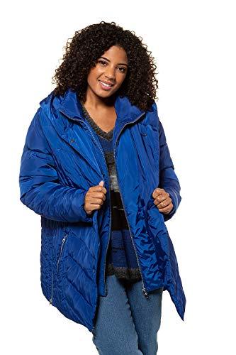 Femme Manteau Neuve Tailles Grandes Col Doudoune Veste Bleu Parka Hiver Femmes 718675 Roi Popken Ulla Taille Matelassé WRnOB5