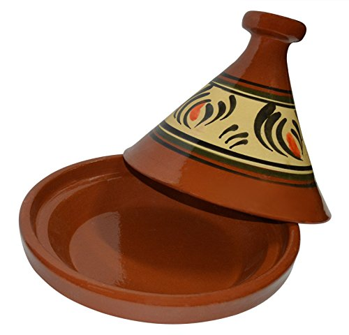 Moroccan Cooking Tagine Red 6 100% lead free Guaranty Safe Cooking made from natural clay Ideal for cooking on top of any kind of stove and inside the oven Traps condensation to keep food moist and infused easy to clean
