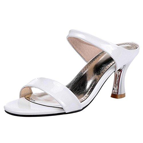 Sandales white RAZAMAZA A Femmes Enfiler v7x7Aq4z