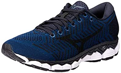 Mizuno Australia Men's Waveknit S1 Running Shoes, Blue Wing Teal/Black/Silver, 8 US
