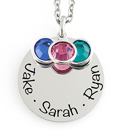 Mommy Necklace Children Personalized Birthstone product image