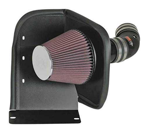 K&N Cold Air Intake Kit with Washable Air Filter:  2006-2009 Chevy/Pontiac (Impala, Monte Carlo, Grand Prix) 5.3L V8, Black HDPE Tube with Red Oiled Filter, 63-3059 (2006 Pontiac Grand Prix Cold Air Intake)