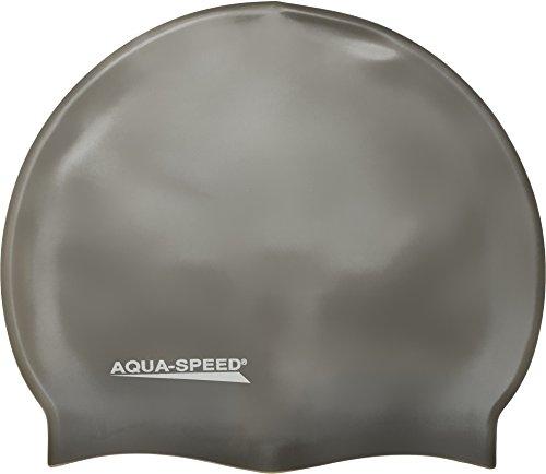 Aqua Speed Super-Stretch Badekappe Damen & Herren | Schwimmkappe Mädchen & Jungen | Bademütze | Badehaube | Silikon | Mega
