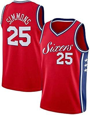 GRYUEN NBA Phila 76ers 25# Simmons Retro, Camiseta de Jugador de ...