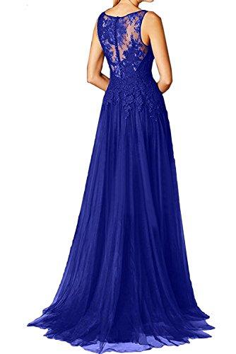 Blau Fuchsia Damen Jugendweihe Langes mia Kleider Spitze Etuikleider Royal Mit Schleppe Abendkleider Braut La Brautmutterkleider qHxZnatn