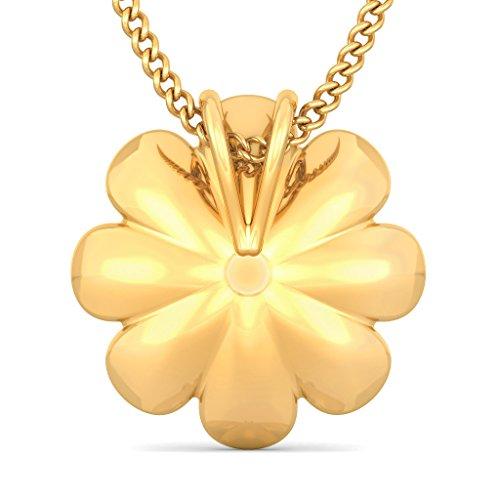 Or jaune 18K 0,1ct tw Round-cut-diamond (IJ | SI) Pendentif
