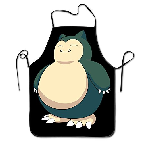 Snorlax Pokemon Cartoon Easy Clean Restaurant Cooking Bib Aprons