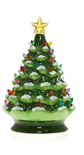 Winter Lane Retro Vintage Ceramic Musical Christmas Tree