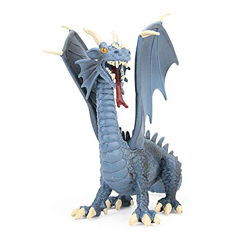 SLONG Western Myths and Legends of The Spitfire Blue Dragon Model Collection Flying Dinosaur Toys Sile and boy Gifts
