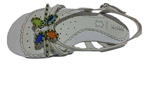Geox - Sandalias de vestir para niña blanco blanco