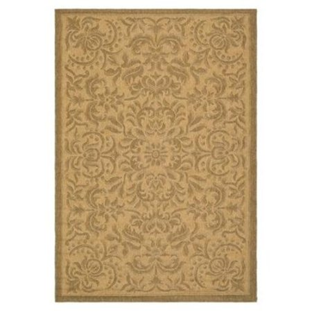 Safavieh Courtyard Collection CY6634-39 Natural and Gold Indoor/Outdoor Round Area Rug (6'7″ Diameter)