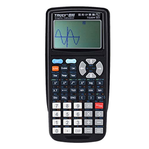 Calculator, TG204 Portable Size School Students Graphics Calculator for Graphics Teaching, Black ()