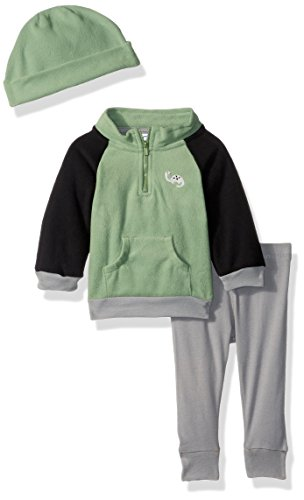 Gerber Baby Boy 3 Piece Micro Fleece Top, Pant and Cap Set, dino, 18 Months