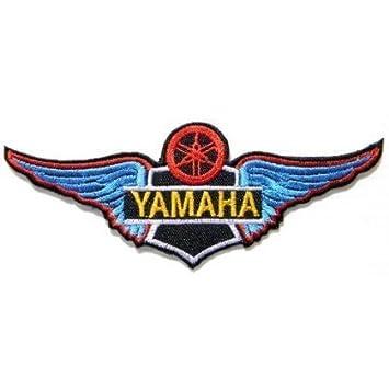Yamaha Azul Alas Sheild Motocicletas Biker Chaqueta de Logo ...