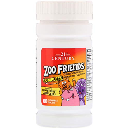 21st Century, Zoo Friends Complete, Children's Multivitamin/Multimineral Supplement, 60 Chewable Tablets