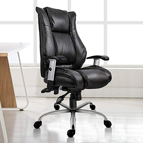 Smugdesk Executive Office Chair Ergonomic Heavy Duty Chair Leather Adjustable Swivel Comfortable Rolling Chair Photo #7