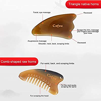 1pc Cow Horn Scrapper Massaging Tool Scraping Tube Beauty Tool for Back Neck