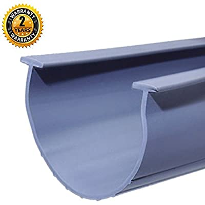 """Universal- Grey 5/16"""" T-end 20' Garage Door Bottom Weather Seal Strip 20' Rubber Seal Replacement, 5/16"""" T-Ends, T-Style Match Amarr/Clopay & More, Grey"""