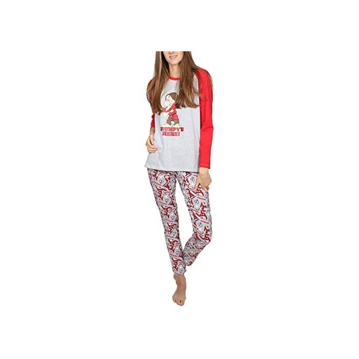 41n%2BXKLkjjL Pijama de punto de algodón, de manga larga, pantalón largo y cuello redondo. La camiseta es de punto vigoré, de color gris jaspe con mangas a contraste y detalle en glitter personalizado de la marca DISNEY. Tshirt: 95% Cotton/co 5% Polyester/pes Trousers: 100% Cotton/co
