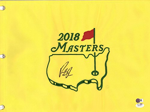 Framed Patrick Reed Autographed 2018 Masters Pin Flag - JSA Certified - Autographed Pin Flags