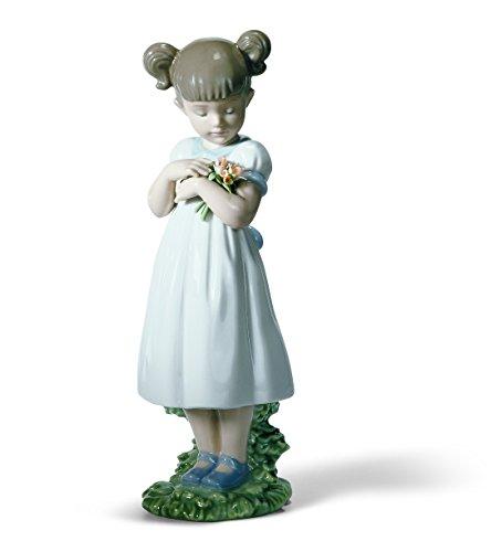 Lladró Flowers For Mommy Figurine (Lladro Girl Flowers)