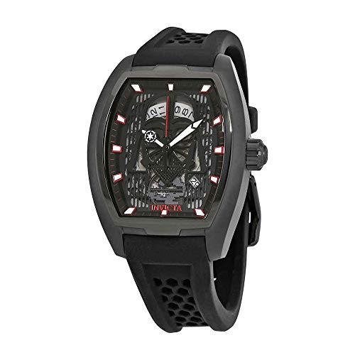 Invicta Men's 'Star Wars' Automatic Stainless Steel and Silicone Fashion Watch, Color:Black (Model: 26942) (Automatic Tonneau Watch)