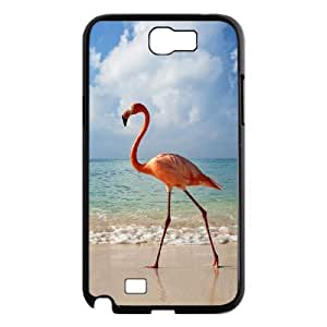 LZHCASE Diy Design Back Case Flamingos for Samsung Galaxy Note 2 N7100 [Pattern-1]