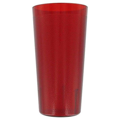 Red Colorware Tumbler - Cambro 2000P156 Colorware Ruby Red 22 Oz Tumbler - Dozen