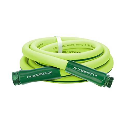 Flexzilla Garden Lead-in Hose, 5/8 in. x 10 ft., Heavy Duty, Lightweight, Drinking Water Safe - HFZG510YW (Water Swan Hose)