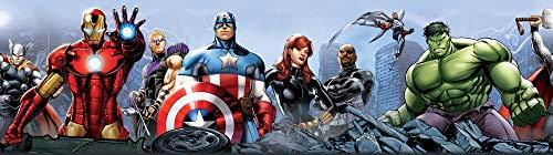 AG Design Marvel Avengers Selbstklebende Bordüre, Wand Sticker, Folie,