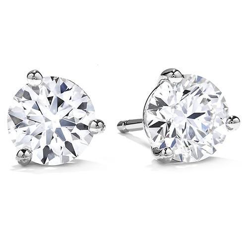 PAVOI Cubic Zirconia Earrings - AAAAA Grade CZ Diamond Stud Earrings 3-Prong Setting 5mm