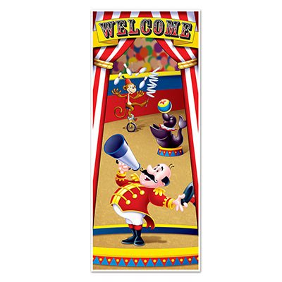 Fun CIRCUS TENT Door Cover Banner DECORATION - 30