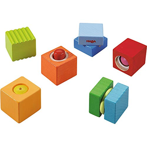 HABA Fun with Sounds Wooden Discovery Blocks with Acoustic Sounds (Made in Germany) ()