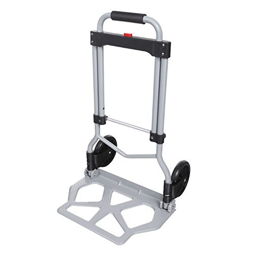 Portable Heavy Duty Folding Hand Truck Luggage Cart Large Capacity, Industrial/Travel/Shopping (220 lbs) by shaofu