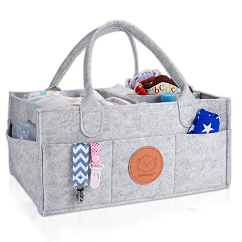 Baby Diaper Caddy Organizer - Large Baby Organizers and Storage for Nursery - Portable Diaper Basket for Changing Station - Fits Changing Table - Baby Registry Gift