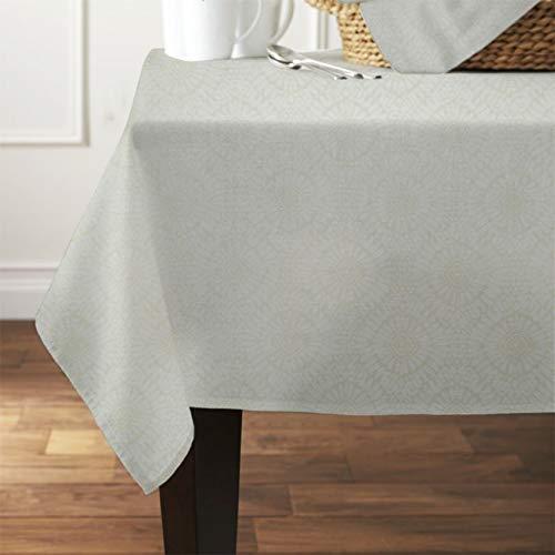 Tiny Break Pure Cotton Floral Jacquard Fabric Tablecloth, 60