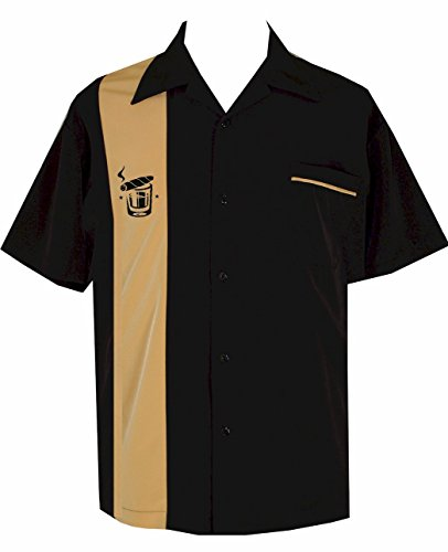 Shirt Panel Camp (Cigar Embroidered Retro Lounge Camp Men's Shirt ~ BeRetro Cuban)