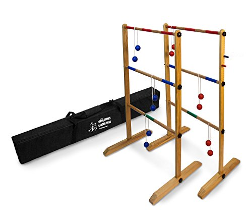 - Ladder Toss Double Wooden Ladder Ball Game
