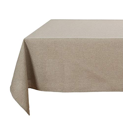 54 X 54 Tablecloth - Deconovo Modern Style Woven Linen Look Squre Decorative Wrinkle Resistant Tablecloth for Kitchen 54x54 Inch Khaki