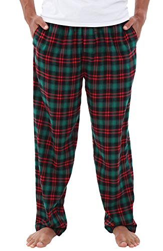 - Alexander Del Rossa Men's Lightweight Flannel Pajama Pants, Long Cotton Pj Bottoms, Large Green and Red Even Plaid (A0705W18LG)