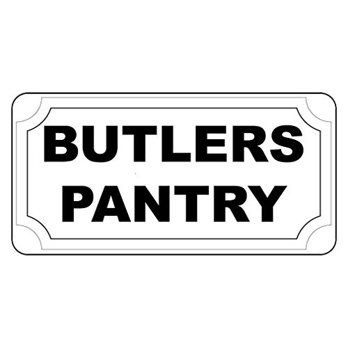 Butlers Pantry Red Retro Vintage Style Metal Sign - 8x12 inch