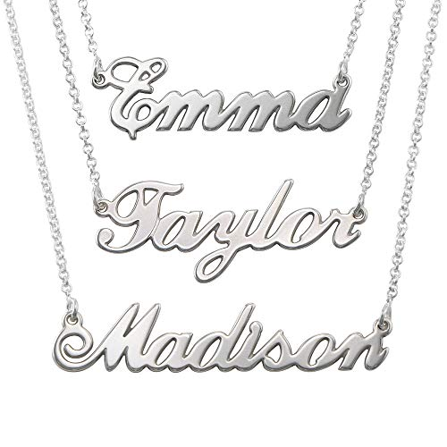 MyNameNecklace Name Necklaces - Personalized Name Jewelry in Sterling Silver (Custom Any Name)