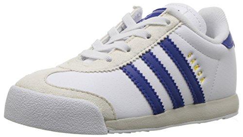 adidas Originals Boys' Samoa I Sneaker, White/Collegiate Royal/Talc, 6 Medium US Toddler