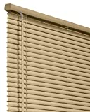 CHICOLOGY Horizontal Venetian Slat Window Shade 43 X 64 Cordless 1-Inch Vinyl Mini Blinds Gloss Cappuccino 43X 64 43'W X 64'H Commercial Grade